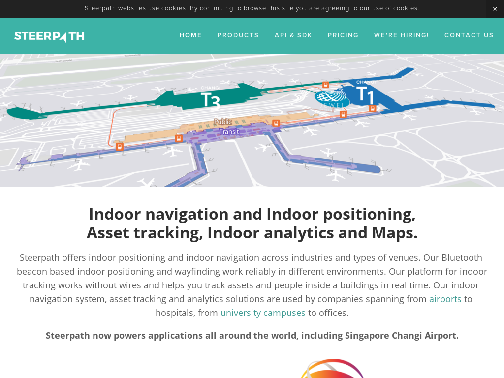 Beacon-based Indoor Positioning and Wayfinding by Steerpath